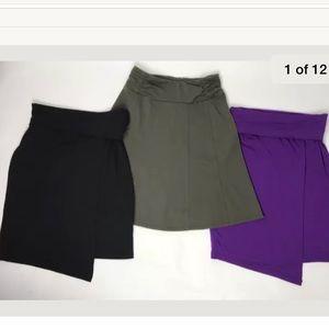 Athleta Skirts Black Purple Olive Green XXS